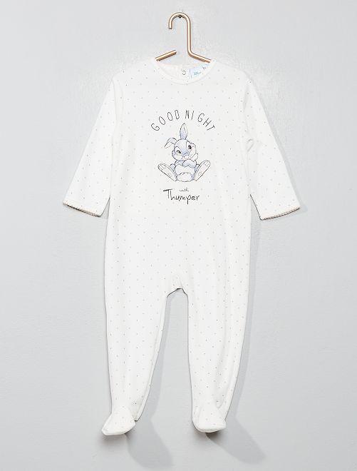Pyjama en velours 'Panpan'                                                     écru