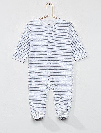 Garçon 0-36 mois - Pyjama en velours rayé - Kiabi 1518fc1e864