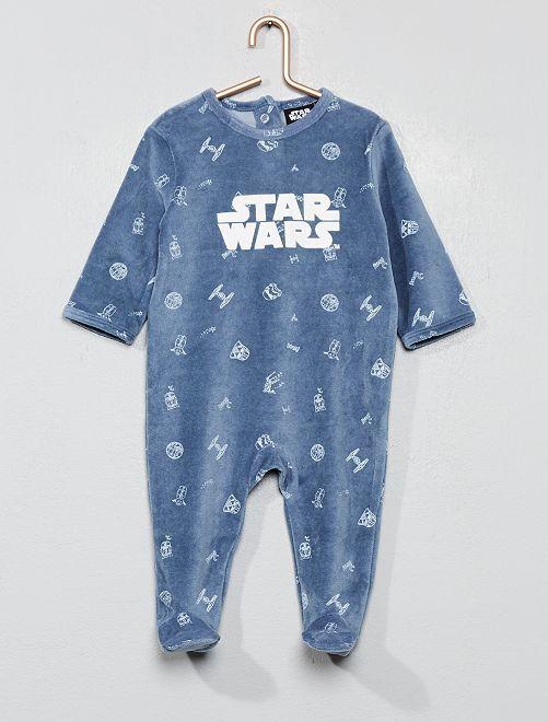 Pyjama en velours 'Star Wars'                             bleu