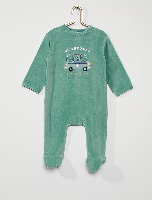 Pyjama en velours                                                                                                                                                                                                                                         vert