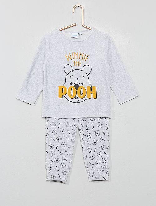 Pyjama en velours 'Winnie'                                                     gris chiné Winnie