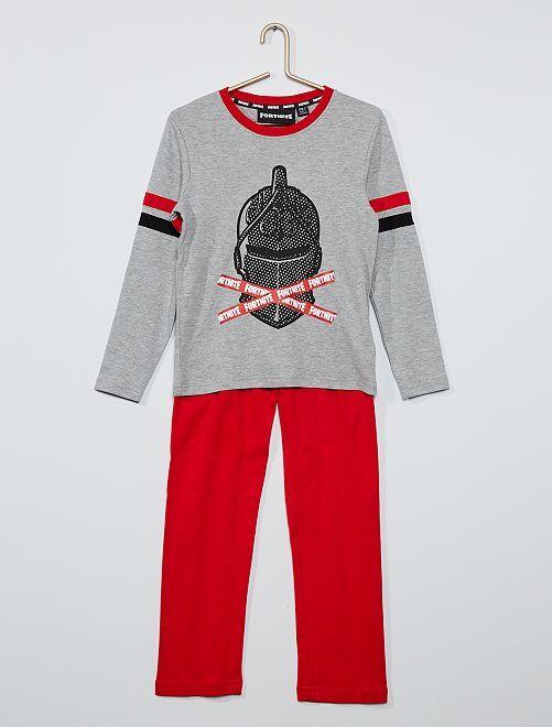 Pyjama 'Fortnite'                             gris/rouge