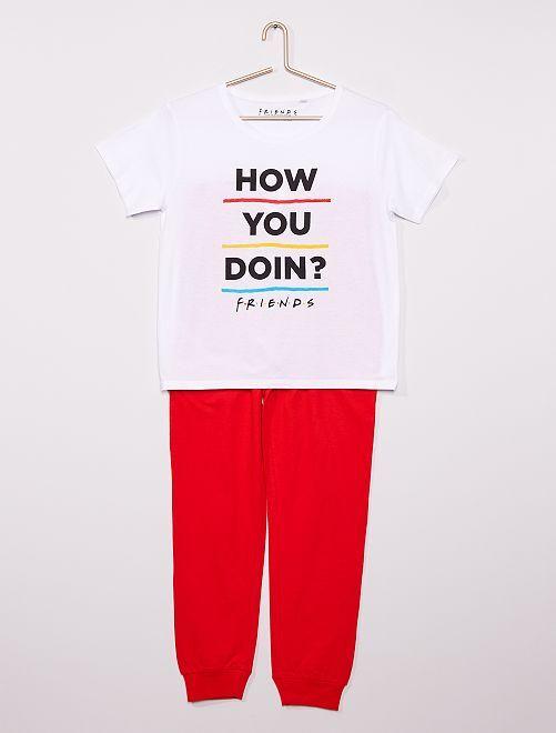 Pyjama 'Friends'                             blanc
