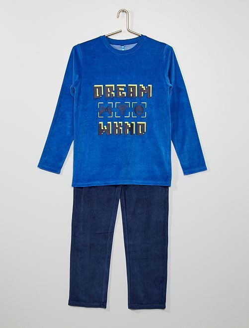 Pyjama 'gamer'                                         marine/bleu