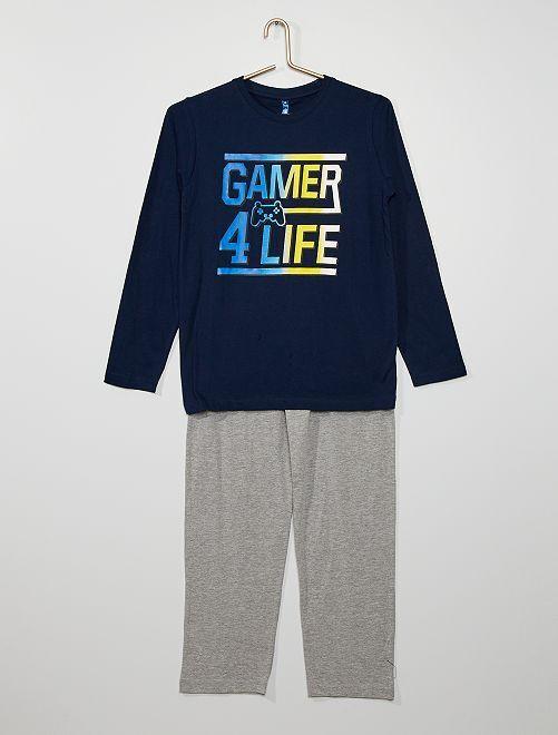 Pyjama 'Gamer'                                         marine/gris