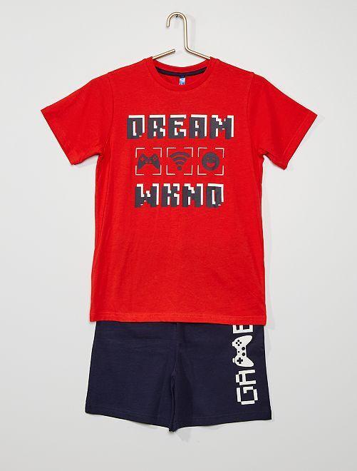 Pyjama 'gaming'                             rouge/marine