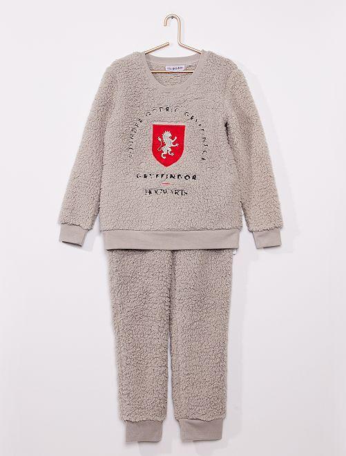 Pyjama 'Harry Potter' fourrure                             gris