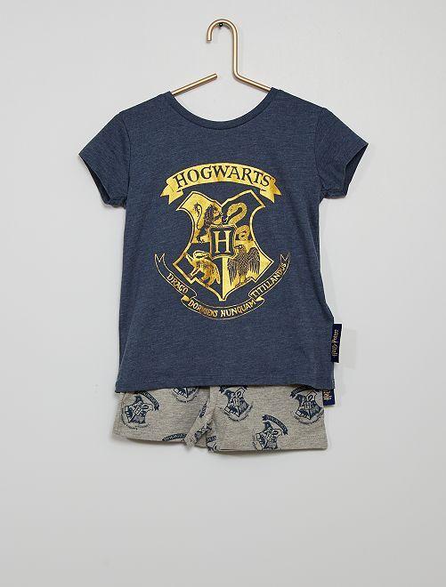 Pyjama 'Harry Potter'                             gris/bleu