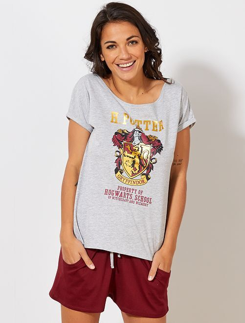 Pyjama 'Harry Potter'                             gris/bordeaux