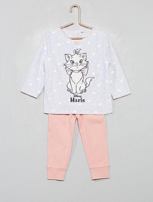 Pyjama haut en velours 'Disney'                                         gris/rose marie