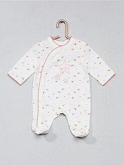 Pyjama imprimé à biais - Kiabi
