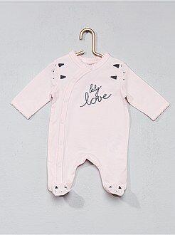 Fille 0-36 mois - Pyjama imprimé à biais - Kiabi