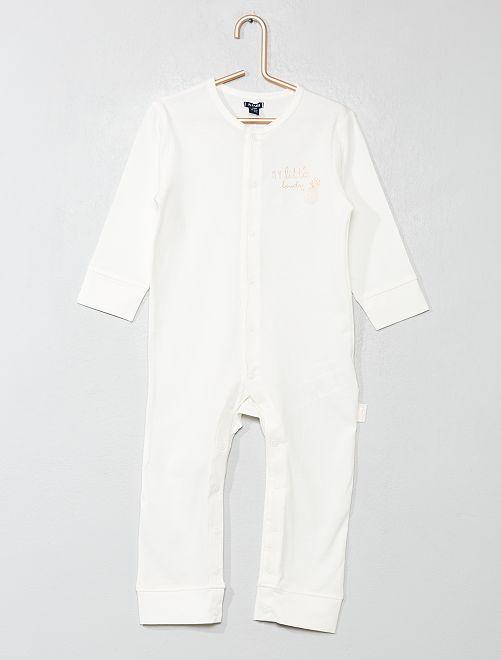 Pyjama imprimé 'ananas'                                         écru Bébé fille