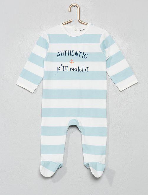 Pyjama imprimé                                                                                                                                                                                                                                                                                         blanc/bleu/matelot