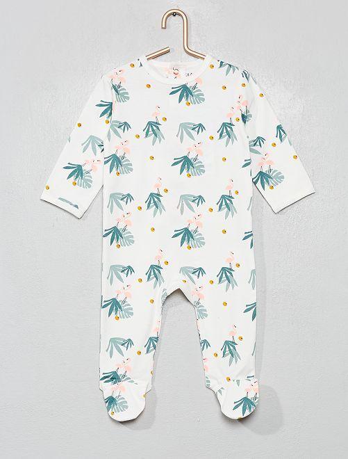 Pyjama imprimé                                                                                                                                                                                                                                                                             blanc/flamand