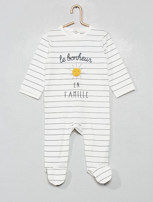 Pyjama imprimé                                                                                                                                                                                                     blanc/soleil