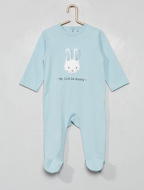 Pyjama imprimé                                                                                                                                                                                                                                         bleu/lapin