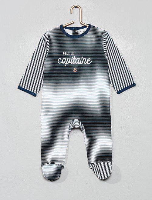 Pyjama imprimé                                                                                                                                                                                                                                         bleu/marin