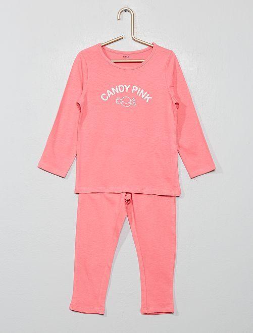 Pyjama imprimé 'bonbon'                                                                                         rose