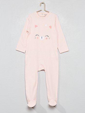 24ccf138292e3 Pyjama imprimé  chat  - Kiabi