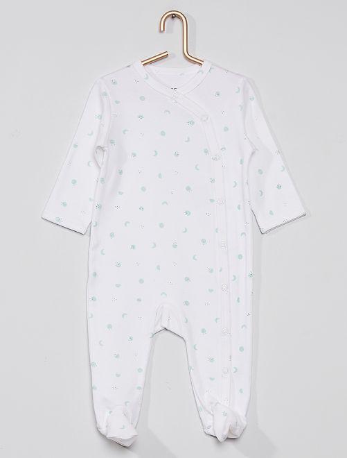 Pyjama imprimé éco-conçu                                                                                         blanc imprimé