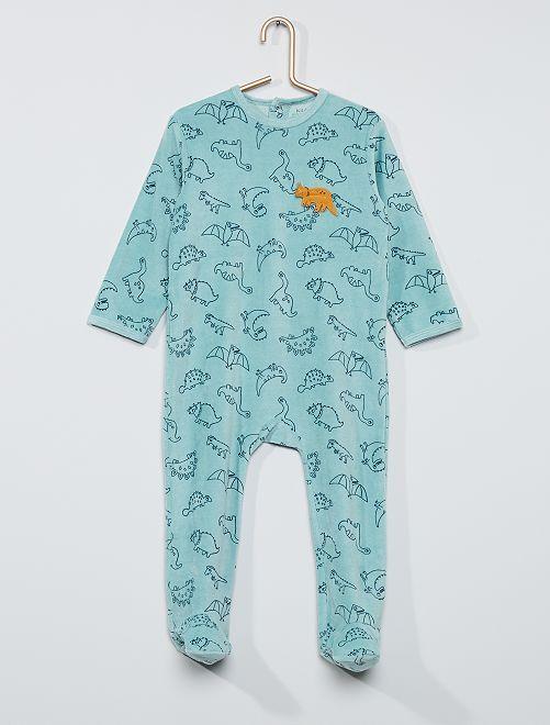 Pyjama imprimé éco-conçu                                                                                                                                                                                                                             vert dino