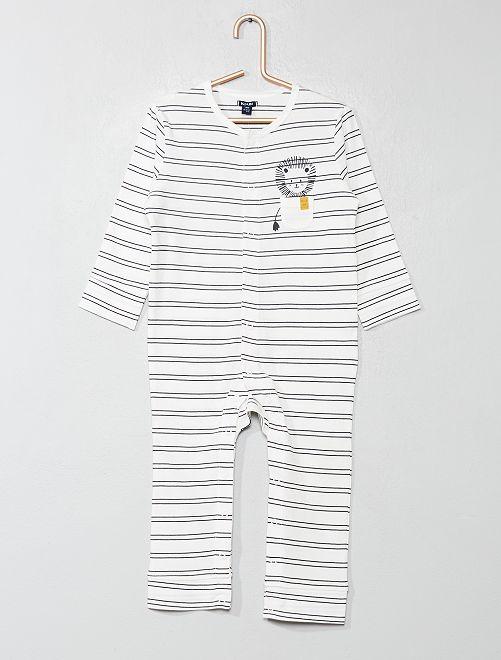 Pyjama imprimé                                         écru Bébé garçon