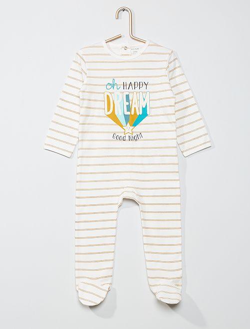 Pyjama imprimé                                                                                                                                                                                                                                                                             écru rayé