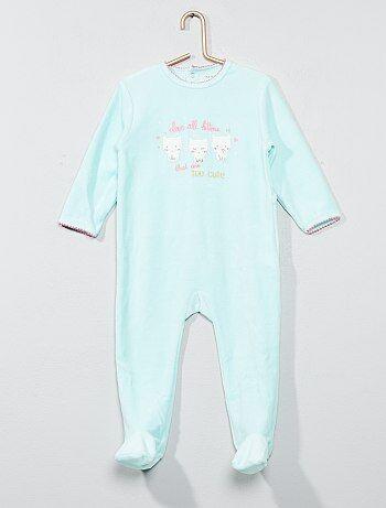 7d4f95e5d117d Pyjama imprimé en velours - Kiabi