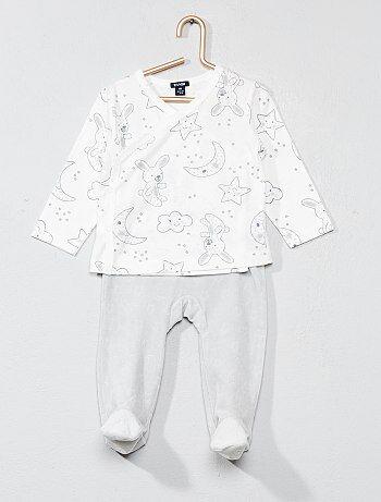 Fille 0-36 mois - Pyjama imprimé 'étoiles' - Kiabi