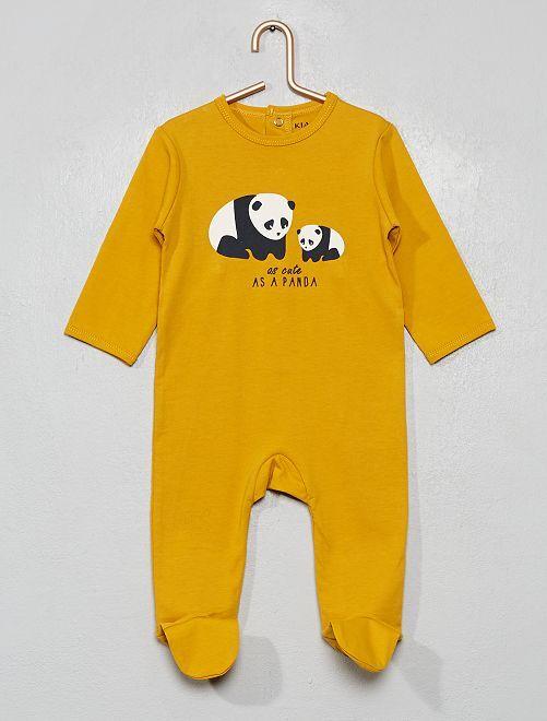 Pyjama imprimé                                                                                                                                                                                                                                                                                         jaune/panda