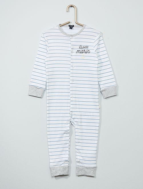 Pyjama imprimé 'marin'                     blanc