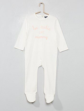 32eccd13fe486 Pyjama imprimé  message  - Kiabi