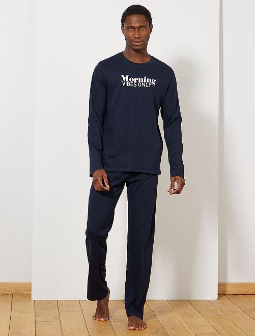 Pyjama imprimé message                                         bleu marine