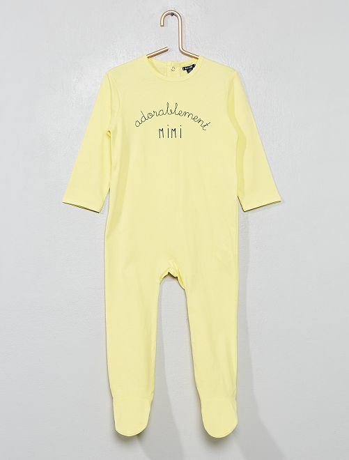 Pyjama imprimé 'message'                                                                             jaune Bébé garçon