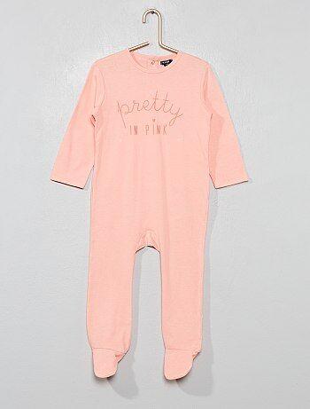 Fille 0-36 mois - Pyjama imprimé  message  - Kiabi 83abdf0fd71