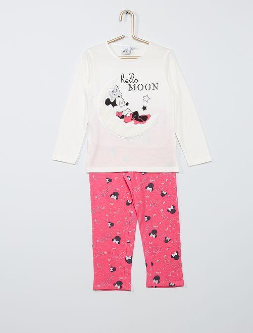 Pyjama imprimé 'Minnie'                                         écru/rose