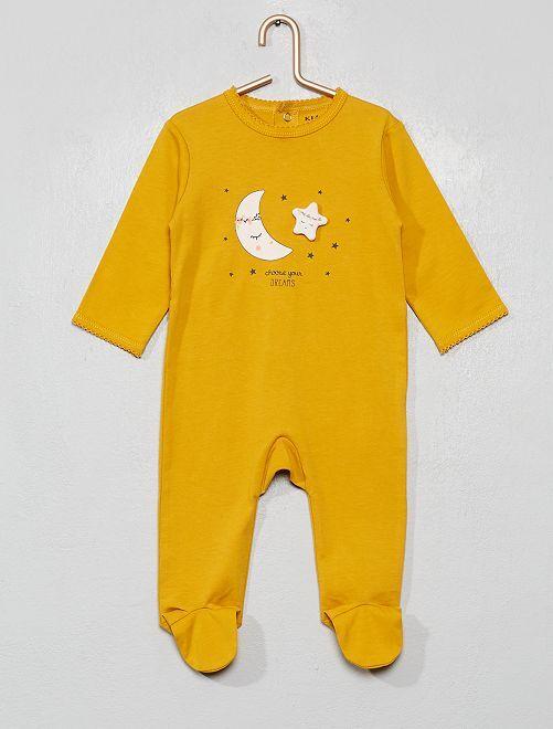 Pyjama imprimé                                                                                                                                                                                                                                         moutarde/rêves