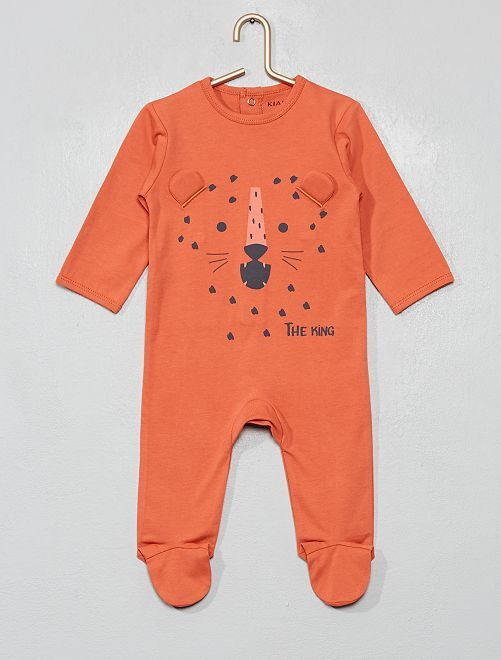 Pyjama imprimé                                                                                                                                                                                                                                         ocre/léopard