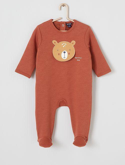 Pyjama imprimé ours                                         marron
