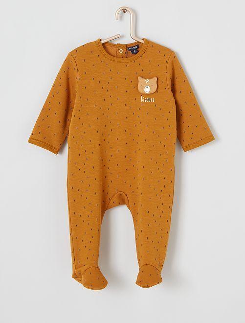 Pyjama imprimé ours                                         marron imprimé