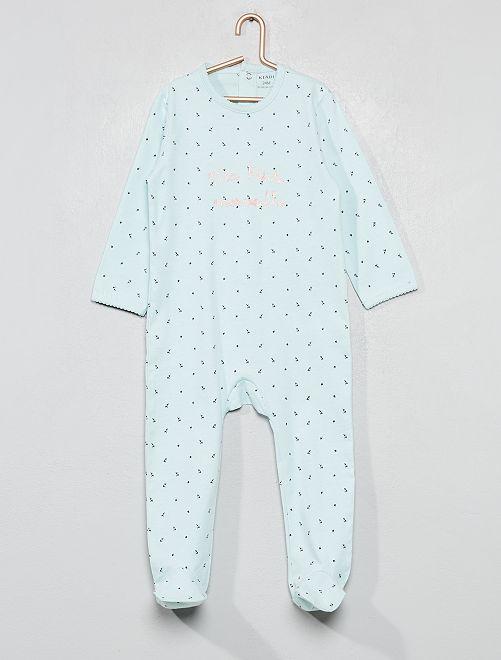 Pyjama imprimé pailleté                                                                 bleu vert Bébé fille