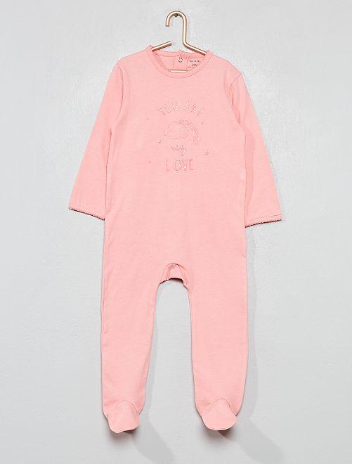 Pyjama imprimé pailleté                                                                 rose foncé