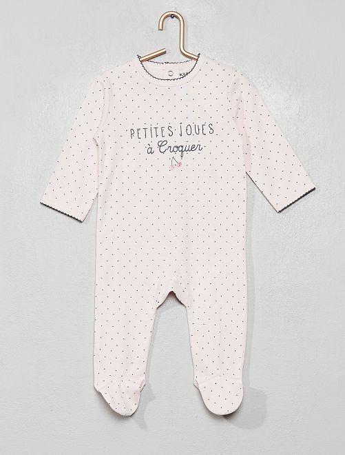 Pyjama imprimé                                                                                                                                                                                                                                                                                         rose/pois