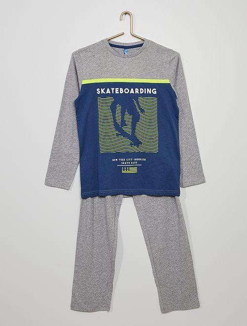 Pyjama imprimé 'skate'                                         gris/bleu