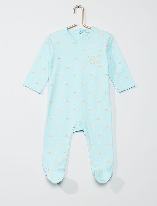Pyjama imprimé                                                                                                                                                                                                                                                                                         vert pâle rainbow