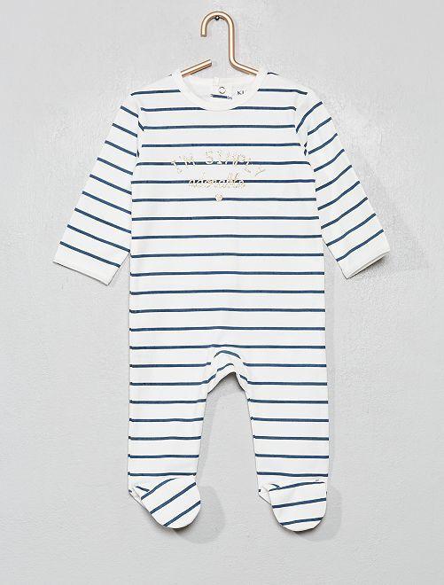 Pyjama jersey                                                                                                                                                                     blanc/rayures