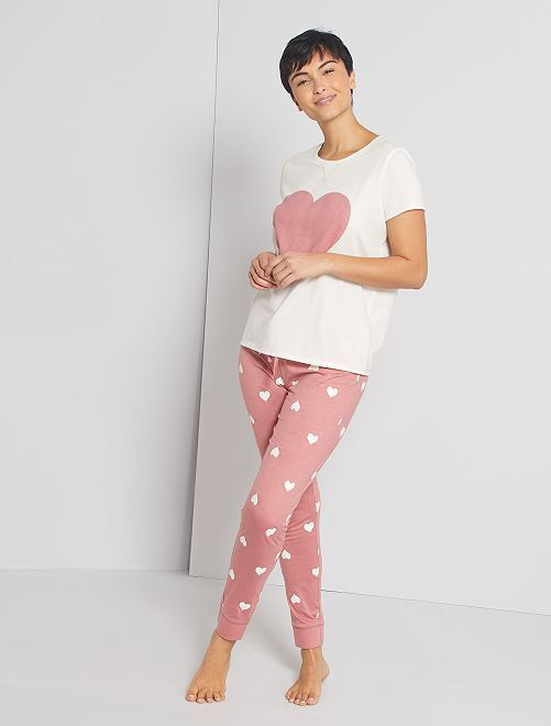 Pyjama jersey                                                                 blanc/rose