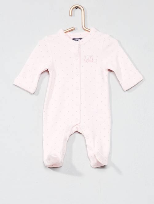 Pyjama jersey 'éco-conception'                                                                 rose pastel