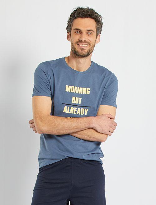Pyjama jersey éco-conçu                                         bleu/marine